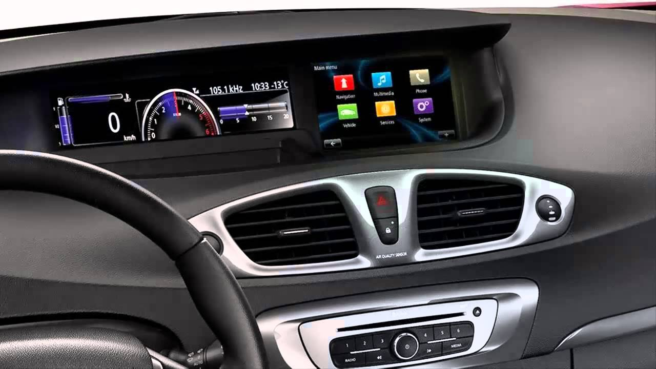 Car interior 2013 renault sc nic xmod youtube for Interior renault scenic