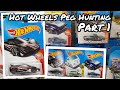 Hot Wheels Peg Hunting - McLaren F1 GTR AND MORE! (1/2)