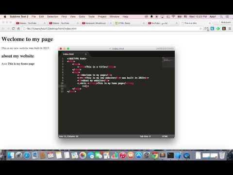 HTML/CSS Tags Tutorial Arabic #2    HTML استخدام الوسوم