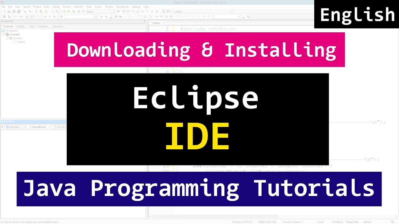 Installing eclipse ide for java programming video tutorial youtube installing eclipse ide for java programming video tutorial baditri Image collections
