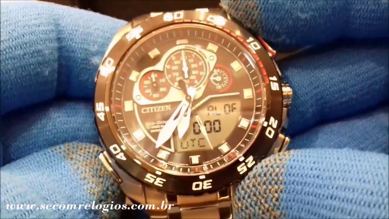 d6c5e599df1 Relógio Masculino Citizen Eco Drive Promaster Terra TZ10119T - YouTube