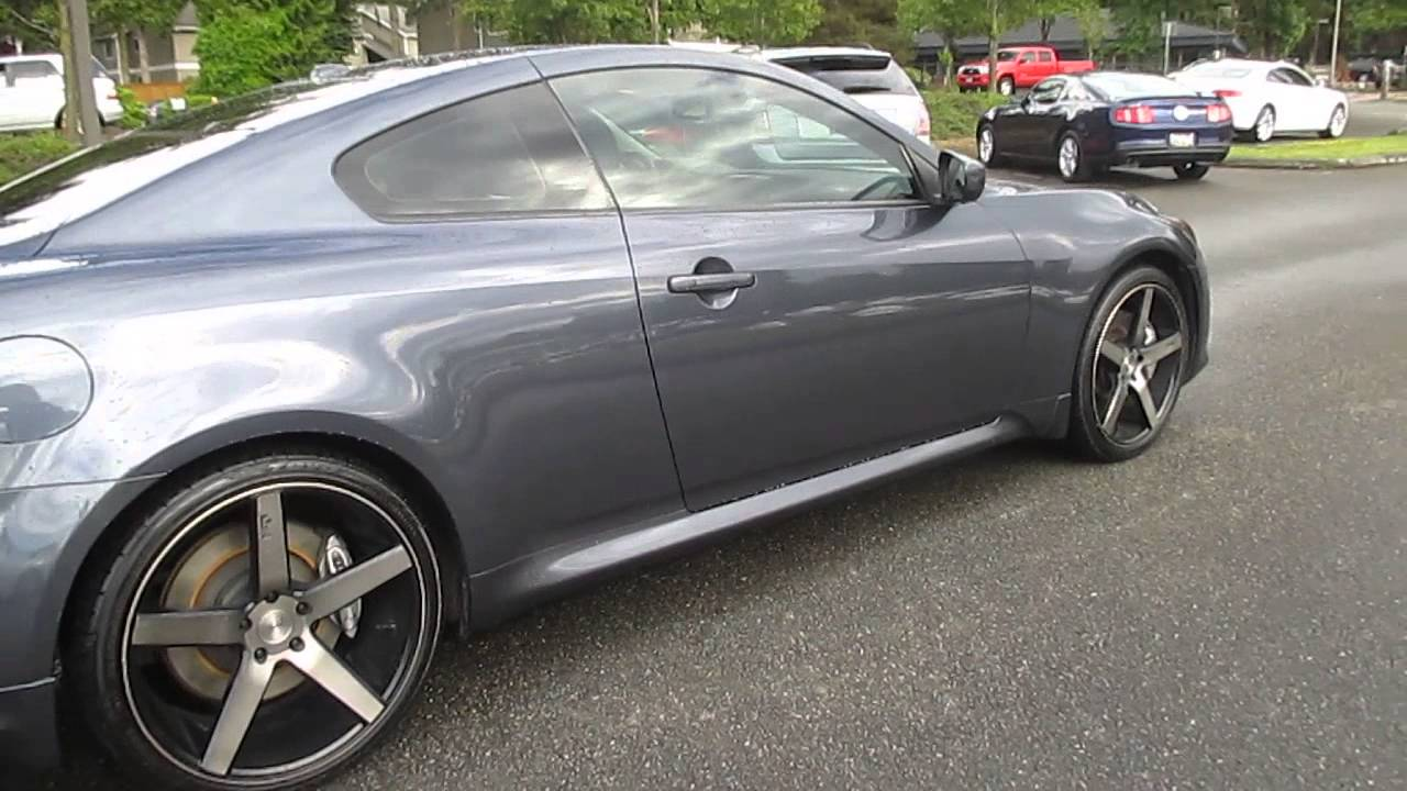 2008 infiniti g37 blue slate stock 5295a walk around youtube vanachro Images
