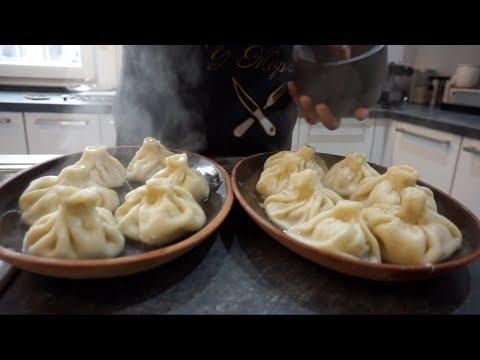Жорж по своему рецепту готовит грузинские хинкали