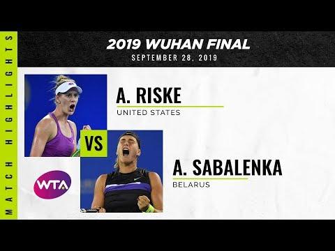 Alison Riske vs. Aryna Sabalenka | 2019 Wuhan Open Final | WTA Highlights