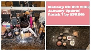 Makeup NO BUY 2016 | January 2016 Update | Finish 7 by SPRING | FrugalChicLife