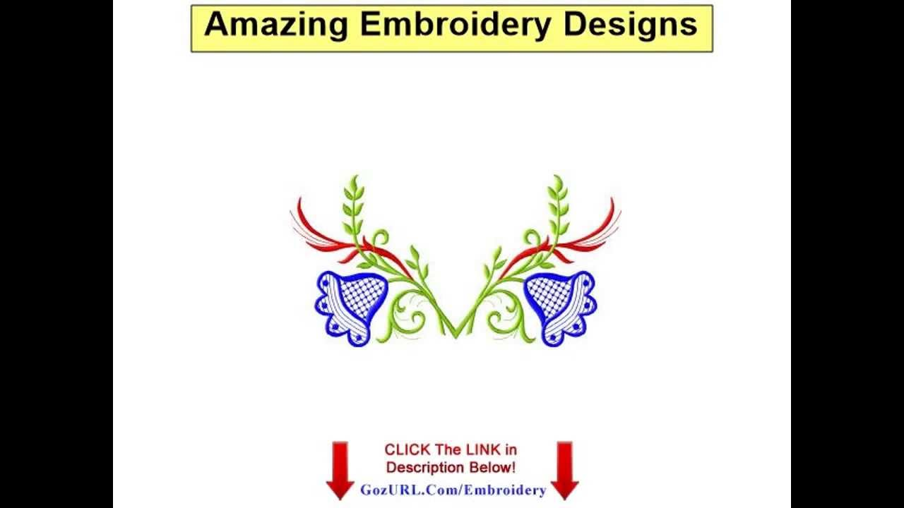 Amazing Embroidery Designs - Ann The Gran - YouTube