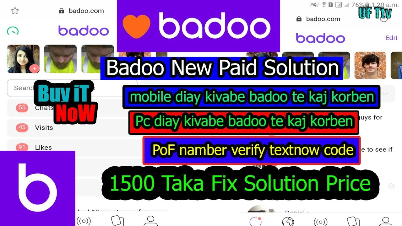 How to verify badoo without picture