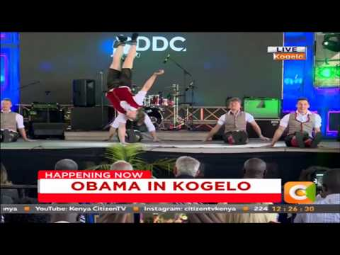 German Breakdance Champions DDC performing in Kogelo #ObamaInKenya