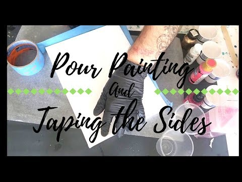 Resin Pour and Taping the Sides (Tutorial)