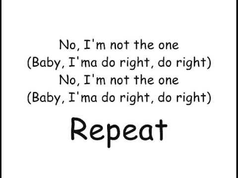 3lW no more [baby imma do you right] lyrics