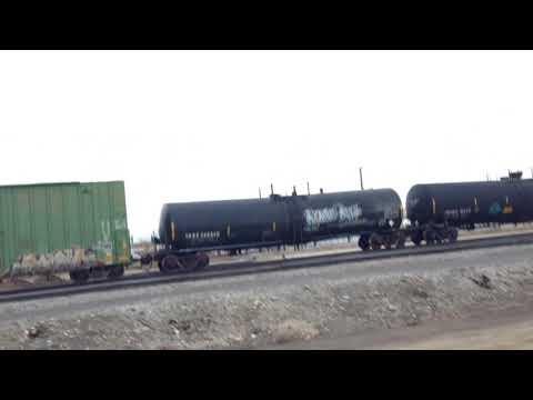 WAMX 3828 leads a Bvrr Short Freight Train With Kansas City Southern Horn