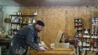 "Skips Custom Refinishing, Part 2 Of Remodeling A 42"" Drop Leaf Table."