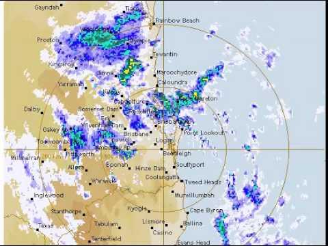 BOM Radar From Cyclone Marcia From Mackay To Brisbane