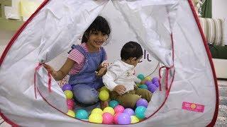 خيمة العاب/ عبدالله ولانا بيتهم الجديد