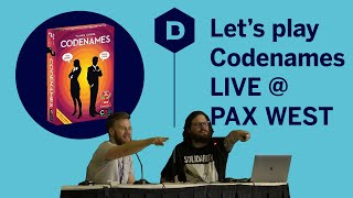 Let's Play Codenames LIVE at PAX West 2019