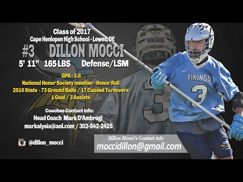 Dillon Mocci 2016 Highlights, Cape Henlopen High School