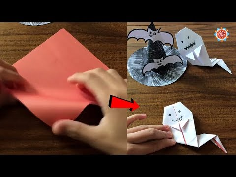 How to make ghost using paper - Making ghost paper on Halloween's Day