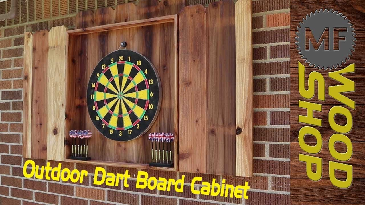 Outdoor Dart Board Cabinet Youtube