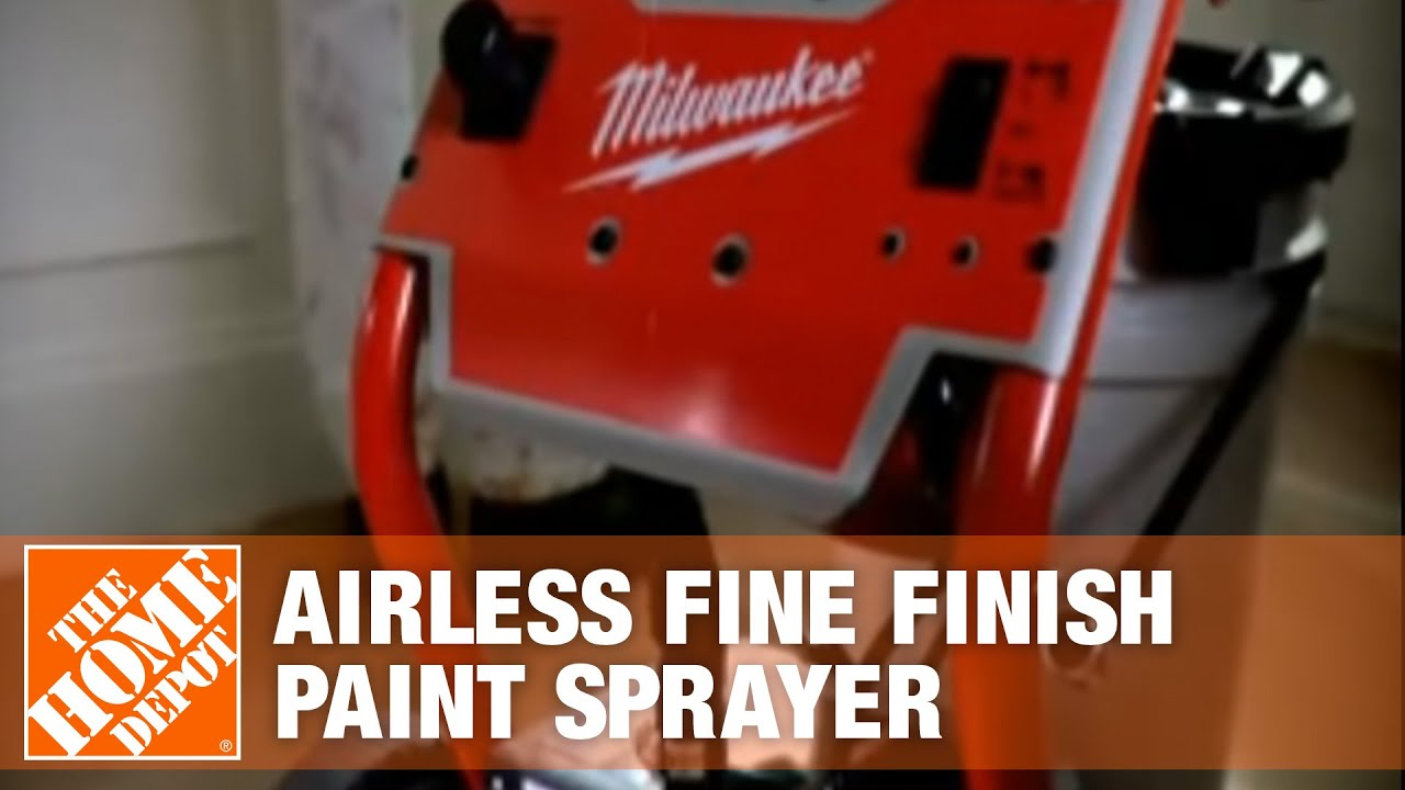 Milwaukee Airless Fine Finish Paint Sprayer The Home Depot