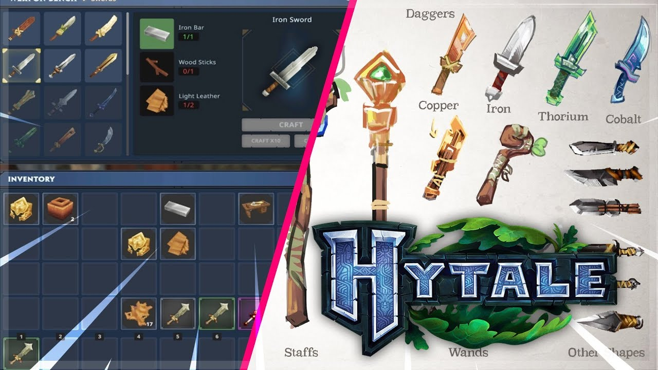 Hytale - USER INTERFACE / WEAPONS CONFIRMED!! - Hypixel Studios
