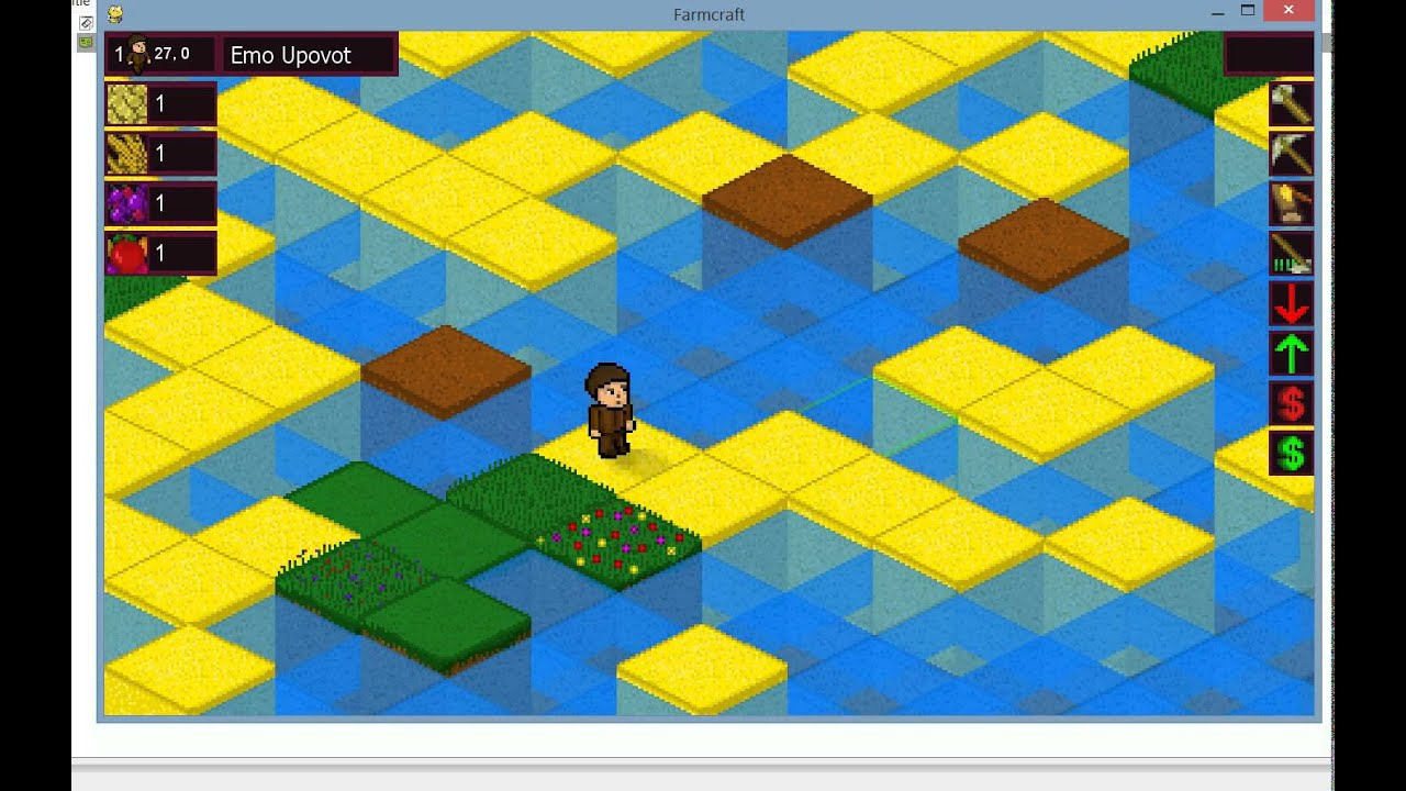 farming minecraft isometric indie game using pythonpygame