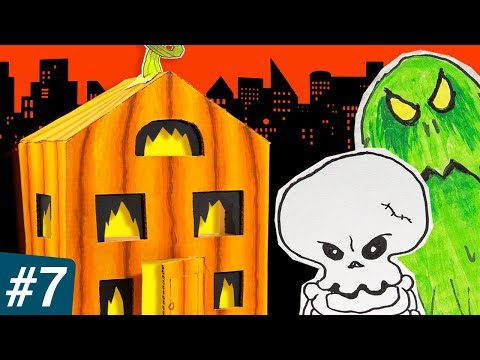 Box City #7: Halloween Special | DIY Cardboard Houses & Craft Ideas for Kids