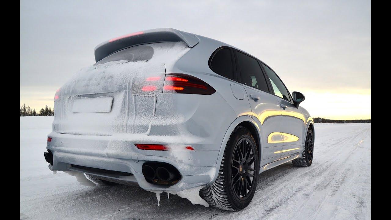2015 porsche cayenne turbo s acceleration on snow youtube - Porsche Cayenne Turbo