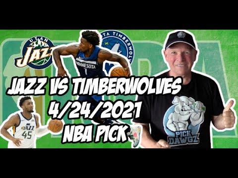 Utah Jazz vs Minnesota Timberwolves 4/24/21 Free NBA Pick and Prediction NBA Betting Tips