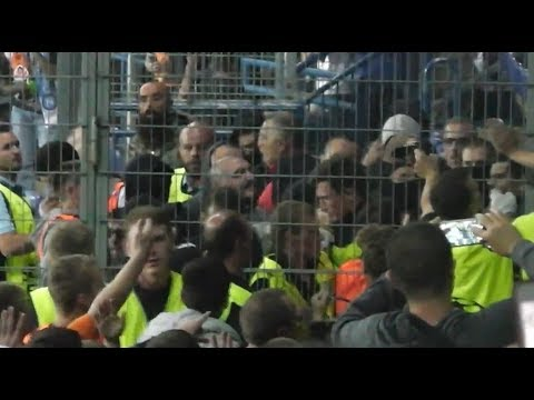 C3 Shakhtar Donetsk - SSC Napoli trouble in away sector