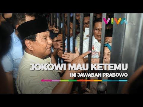 Jokowi Ingin Bertemu, Ini Jawaban Prabowo