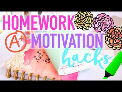 Homework Motivation Hacks | WANT TO DO YOUR HOMEWORK!!!