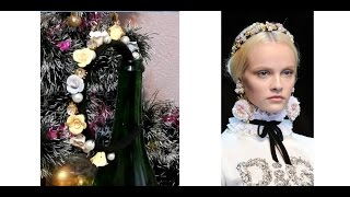 Ободок в стиле Дольче Габбана своими руками(Делаем ободок в стиле Dolce&Gabbana своими руками, лепим из запекаемой полимерной глины розочки, кто не умеет,..., 2014-12-08T22:54:46.000Z)
