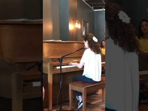 Hannah at Mark Murphy Music studio, 5-21-17