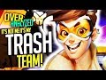 Overwatch Coaching - Tracer - MY TEAM ARE TRASH NOT ME!!! [OverAnalyzed]