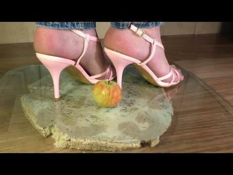 Apple crush high heels challenge