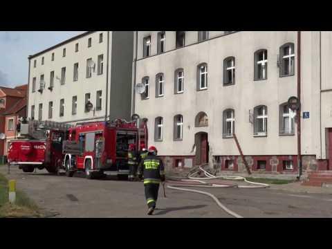 Pożar w bloku przy ul.Wilanowskiej w Giżycku