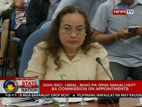 DOH Sec. Ubial, bigo pa ring makalusot sa Commission on Appointments