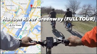 ELECTRIC BIKE RIDING IN NYC: HUDSON RIVER GREENWAY (FULL TOUR) LECTRIC XP -Episode 14