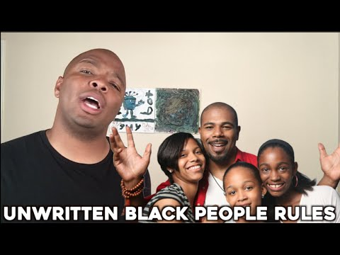 Unwritten Black People Rules