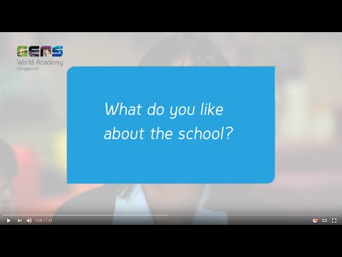 What do students like about this international school in Singapore?