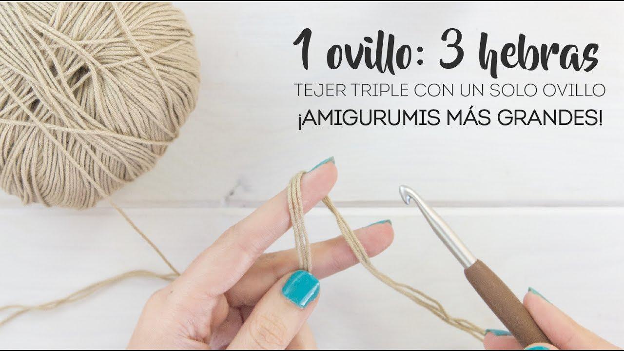Cómo hacer lana super gruesa con lana fina - 1 ovillo: 3 hebras ...