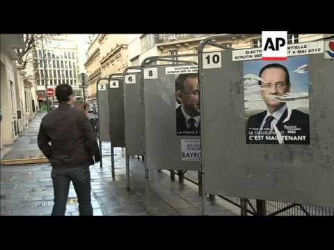 Voters head to polls in French presidential election, sots