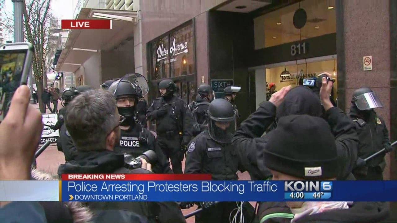 Protesters Arrested After Blocking Traffic Downtown Youtube