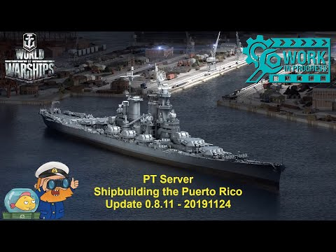 World of Warships - PT Server - Shipyard building the Puerto Rico event