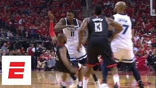 Chris Paul and Jamal Crawford get into it after foul in Game 5 of Rockets vs. Timberwolves | ESPN