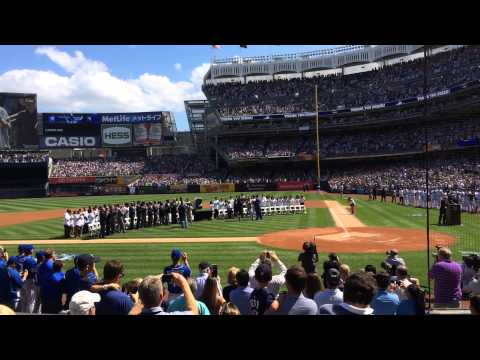 Introduction of Michael Jordan @ Derek Jeter Retirement Day- Yankee Stadium