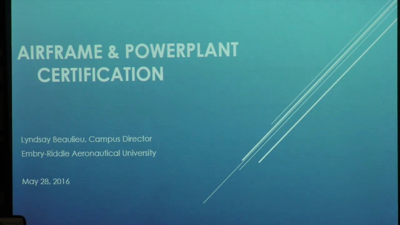Airframe & Powerplant Certification