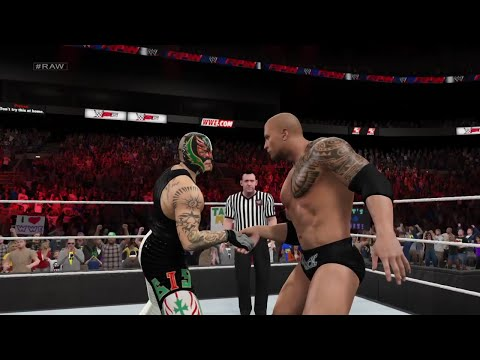 """WWE 2K15- The Rock vs Rey mysterio Normal Match """"WWE Univers"""" 2015 (PS4)"""