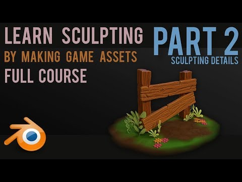 Learn Sculpting by Creating Game Assets - Part 2 - Details