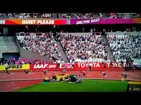 Yohan Blake wins the first heat of 200m (London 2017)